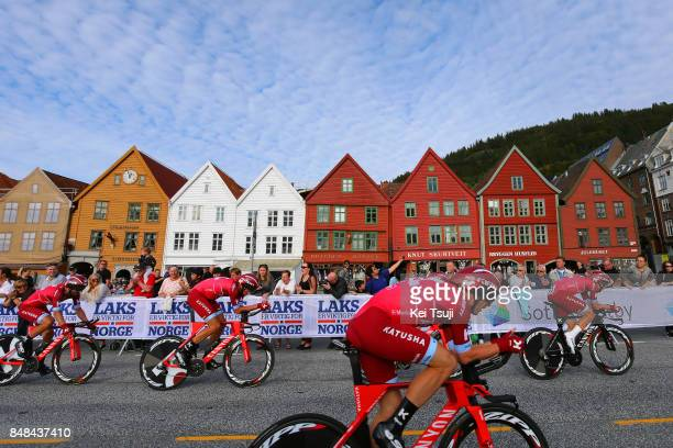 90th Road World Championships 2017 / TTT Men Elite Team KatushaAlpecin / Alexander KRISTOFF / Tiago MACHADO / Tony MARTIN / Michael MORKOV / Nils...