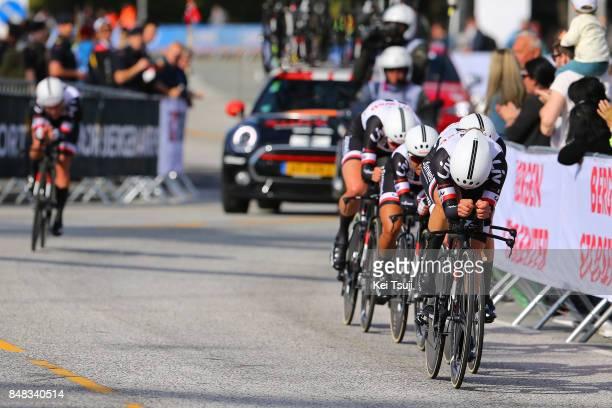 90th Road World Championships 2017 / TTT Women Elite Team Sunweb Women / Lucinda BRAND / Leah KIRCHMANN / Coryn RIVERA / Ellen VAN DIJK / Ravnanger...
