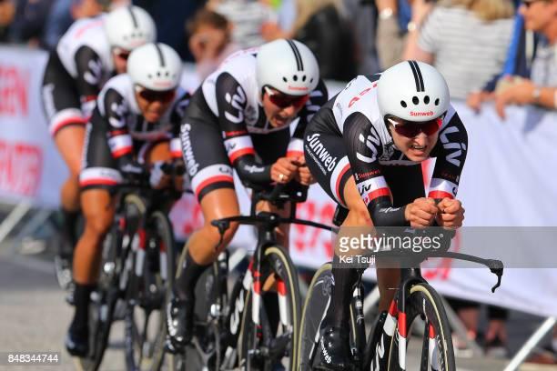 90th Road World Championships 2017 / TTT Women Elite Team Sunweb / Lucinda BRAND / Leah KIRCHMANN / Coryn RIVERA / Ellen VAN DIJK / Ravnanger Bergen...