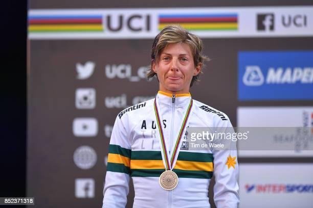 90th Road World Championships 2017 / Women Elite Road Race Podium / Katrin GARFOOT Silver Medal / Celebration / Bergen Bergen / RR / Bergen / RWC /