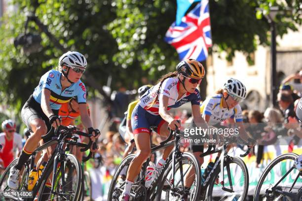 90th Road World Championships 2017 / Women Elite Road Race Kelly VAN DEN STEEN / Elizabeth ARMITSTEADDEIGNAN / Bergen Bergen / RR / Bergen / RWC /...