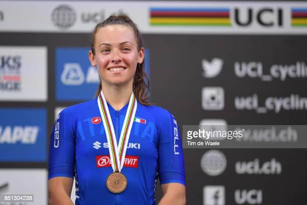 90th Road World Championships 2017 / Women Junior Road Race Podium / PATERNOSTER Bronze Medal Celebration / Bergen Bergen / RR / Bergen / RWC /
