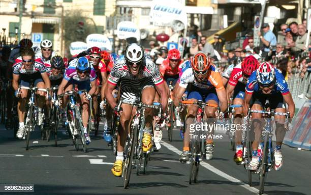 93 Th Milan San Remo 2002 Cipollini Mario Sprint /Zberg Marcus Rodriguez Fred Planckaert Jo World Cup Race Course Coupe Du Monde Wereldbeker...