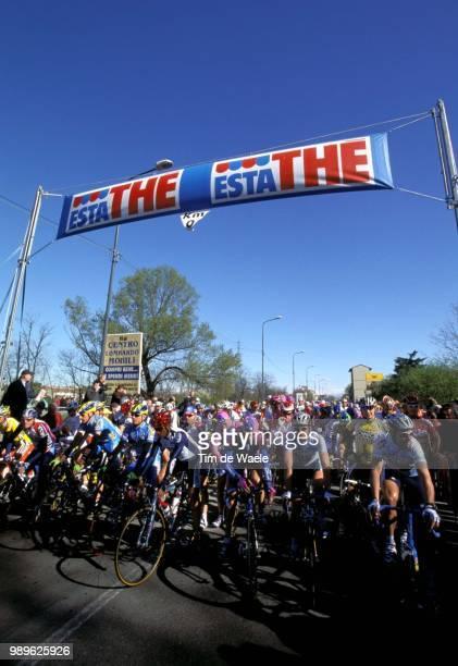 Th Milan - San Remo 2002, Illustration, Illustratie, Depart, Start, Peloton /World Cup Race, Course Coupe Du Monde, Wereldbeker Wedstrijd, Milaan,...