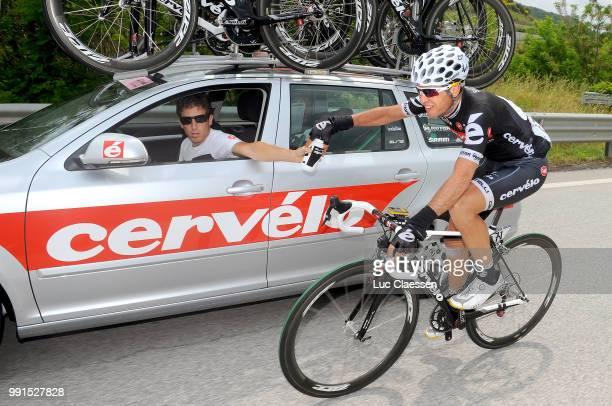 93Th Giro D'Italia 2010 Stage 11 Carlos Sastre Car Voiture Auto Sportsdirector Alex Sans Vega Sportsdirector Team Ctt Cervelo Tets Team /Lucera...