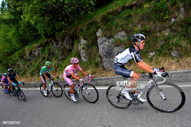 93Th Giro D'Italia 2010 Stage 14Chris Anker Sorensen / Richie Porte Pink Jersey Matthew Lloyd Green Jersey Monte Grappa/Ferrara Asolo /Tour Of Italy...