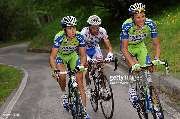 93th Giro d'Italia 2010 / Stage 19 Ivan Basso / Michele Scarponi / Vincenzo Nibali / Brescia - Aprica / Tour of Italy / Ronde van Italie / Rit Etape...