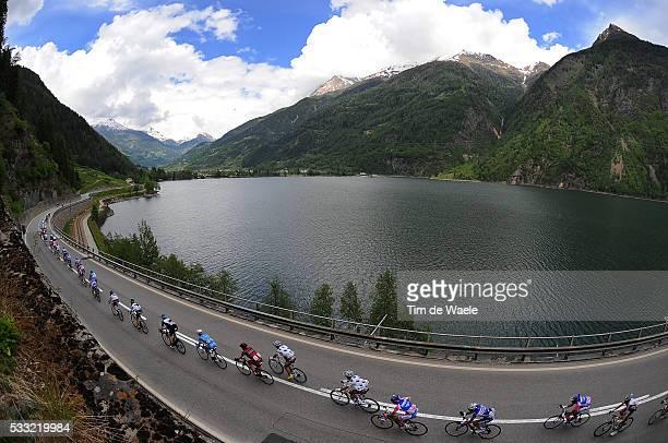 93th Giro d'Italia 2010 / Stage 20 Illustration Illustratie / Peleton Peloton / Poschiavo Lake Lac Meer / Mountains Montagnes Bergen / Landscape...