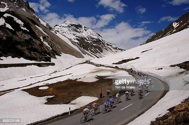 93th Giro d'Italia 2010 / Stage 20 Illustration Illustratie / Peleton Peloton / Passo Di Foscagno / Snow Neige Sneeuw / Landscape Paysage Landschap /...