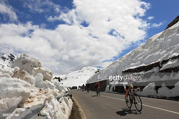 93th Giro d'Italia 2010 / Stage 20 Michael ALBASINI / Illustration Illustratie / Forcola Di Livigno / Snow Neige Sneeuw / Landscape Paysage Landschap...