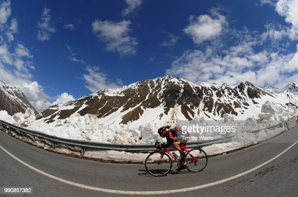 93Th Giro D'Italia 2010 Stage 20Florian Stalder / Illustration Illustratie Forcola Di Livigno Snow Neige Sneeuw Landscape Paysage Landschap Bormio...