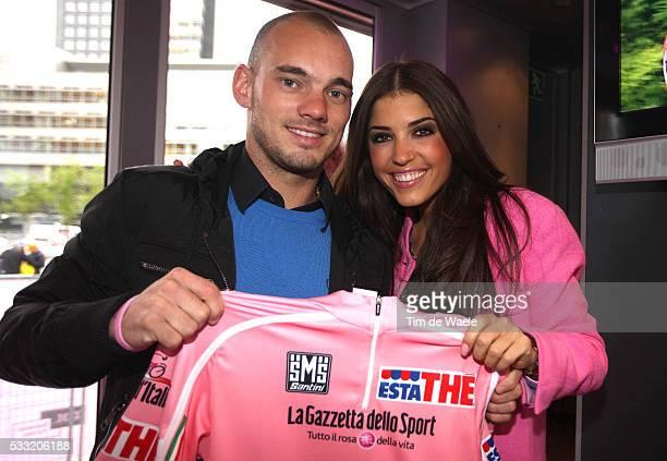 93th Giro d'Italia 2010 / Stage 3 Wesley SNEIJDER Inter Milan Football Player / Yolanthe CABAU van KASBERGEN Fututre wife Sneijder / Amsterdam -...