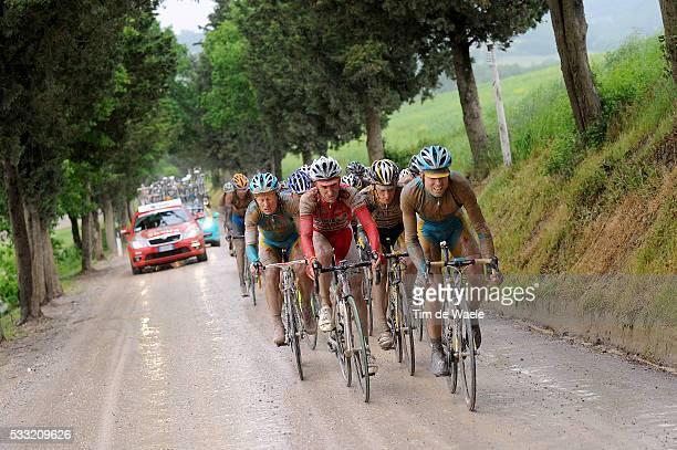 93th Giro d'Italia 2010 / Stage 7 Josep Jufre Pou / Stefano Garzelli / Marco Pinotti / Alexandre Vinokourov / Marina di Carrara Montalcino / Tour of...