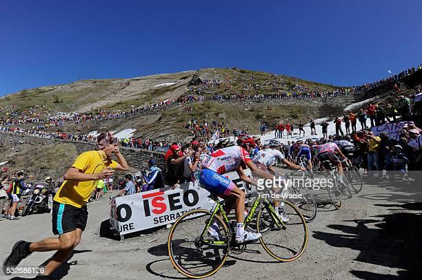 94th Giro Italia 2011/ Stage 20 SCARPONI Michele Red Jersey / COLLE DE FINESTRE 2178m / MENCHOV Denis / KRUIJSWIJK Steven / CONTADOR Alberto Pink...