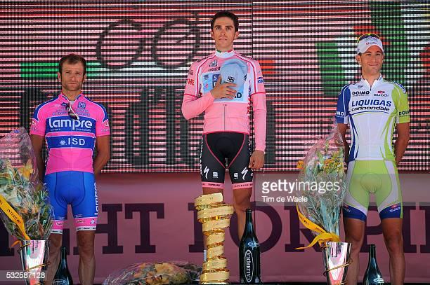 94th Giro Italia 2011/ Stage 21 Podium / SCARPONI Michele / CONTADOR Alberto Pink Jersey / NIBALI Vincenzo / Fiera Milano - Milano / Time Trial...