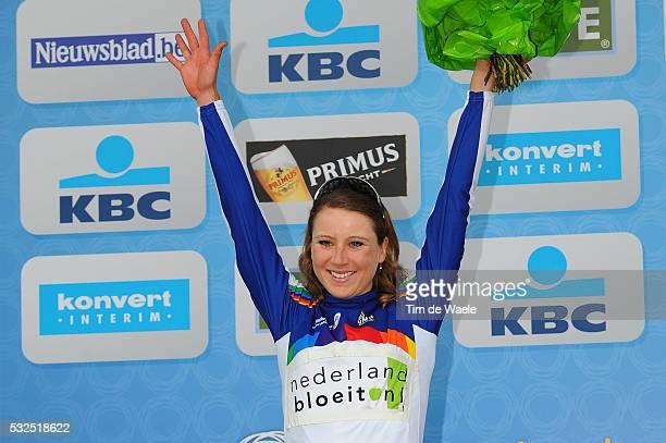 95th Tour of Flanders 2011 / Women Podium / Annemiek Van Vleuten Celebration Joie Vreugde / World Cup Jersey / Oudenaarde Ninove / Ronde van...