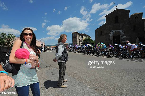 95th Tour of Italy 2012 / Stage 10 Peta TODD Delilah Grace Daughter Fille Dochter / Wife Mark CAVENDISH / Civitavecchia Assisi / Giro Italia Italie /...
