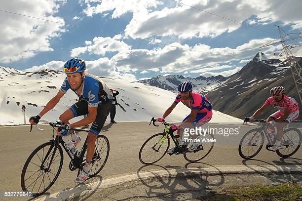 95th Tour of Italy 2012 / Stage 20 Ryder Hesjedal / Michele Scarponi / Joaquim Rodriguez Oliver Pink Jersey / Caldes / Val Di sole - Passo Dello...