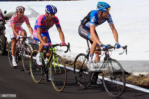 95th Tour of Italy 2012 / Stage 20 Ryder Hesjedal / Michele Scarponi / Joaquim Rodriguez Oliver Pink Jersey / STELVIO 2757m / Caldes / Val Di sole -...