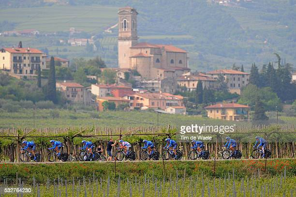 95th Tour of Italy 2012 / Stage 4 Team Saxo Bank / Landscape Paysage Landschap / Matteo Tosatto / Anders Lund / Volodymir Gustov / Jonas Aaen...