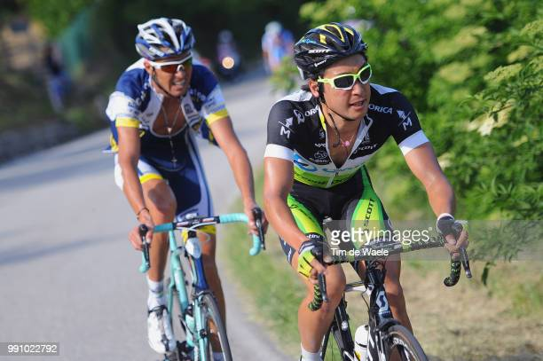 95Th Tour Of Italy 2012, Stage 7Fumiyuki Beppu / Mirko Selvaggi / Recanati - Rocca Di Cambio 1392M / Giro Italia Italie, Ronde Rit Etape /Tim De Waele