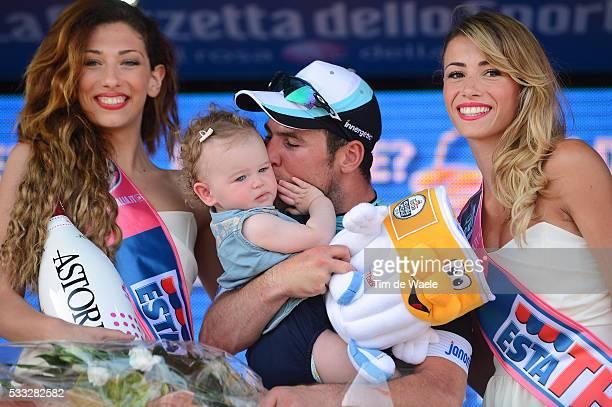 96th Tour of Italy 2013 / Stage 1 Podium / CAVENDISH Mark Delilah Grace Daughter Fille Dochter / Celebration Joie Vreugde / Napoli Napoli / Giro Tour...