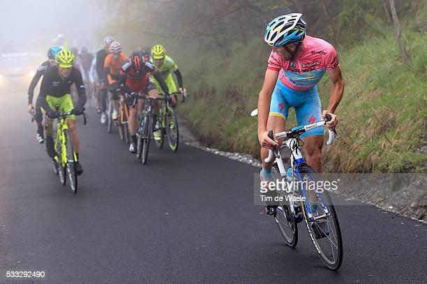 96th Tour of Italy 2013 / Stage 14 NIBALI Vincenzo Pink Leader Jersey / EVANS Cadel / SANTAMBROGIO Mauro / Danilo DI LUCA / SANCHEZ GONZALEZ Samuel /...