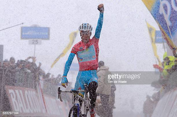 96th Tour of Italy 2013 / Stage 20 Arrival / NIBALI Vincenzo Pink jersey Celebration Joie Vreugde / Silandro Schlanders - Tre Cime Di Lavaredo / Giro...