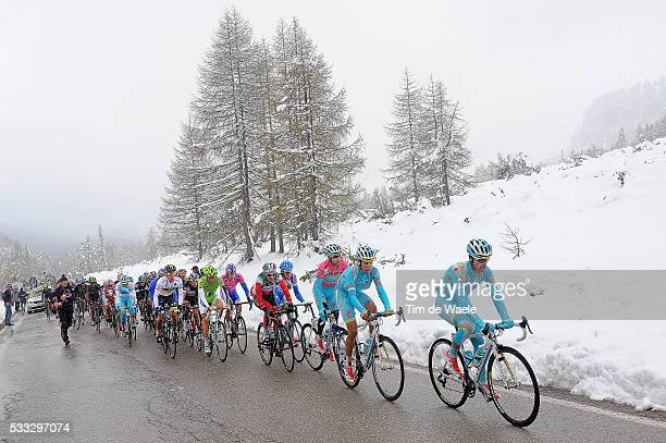 96th Tour of Italy 2013 / Stage 20 PELLIZOTTI Franco / NIBALI Vincenzo Pink Leader Jersey / MAJKA Rafal White Young Jersey / Illustration Illustratie...