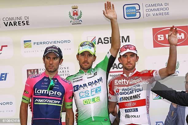 96th Tre Valli Varesine 2016 Podium / Diego ULISSI / Sonny COLBRELLI / Francesco GAVAZZI / Celebration / Saronno Varese / Tim De WaeleRS/Tim De...