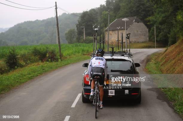 97Th Tour De France 2010 Restdayschleck Andy / Team Saxo Bank / Skoda Car Voiture Auto Restday In Pau Rustday Jour De Repos Ronde Van Frankrijk Tdf...