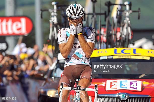 97th Tour de France 2010 / Stage 14 Arrival / RIBLON Christophe Celebration Joie Vreugde / Revel - Ax 3 Domaines / Ronde van Frankrijk / TDF / Rit...