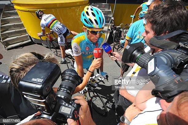 97th Tour de France 2010 / Stage 14 CONTADOR Alberto / Press Pers / Revel - Ax 3 Domaines / Ronde van Frankrijk / TDF / Rit Etape / Tim De Waele