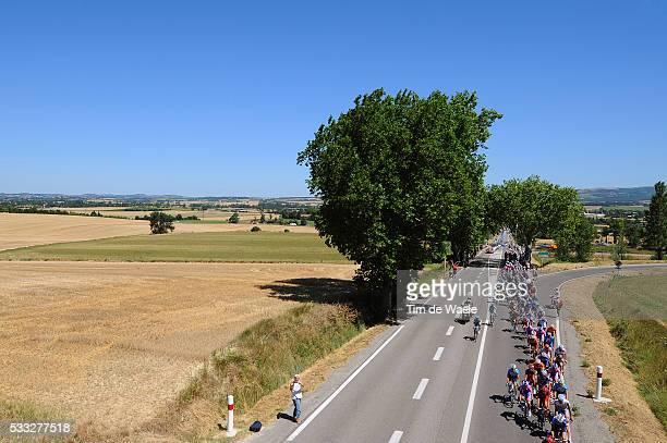 97th Tour de France 2010 / Stage 14 Illustration Illustratie / Peleton Peloton / Landscape Paysage Landschap / Revel - Ax 3 Domaines / Ronde van...