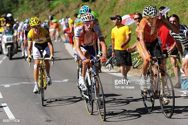 97th Tour de France 2010 / Stage 14 SANCHEZ Samuel / MENCHOV Denis / CONTADOR Alberto / SCHLECK Andy Yellow Jersey / Revel - Ax 3 Domaines / Ronde...