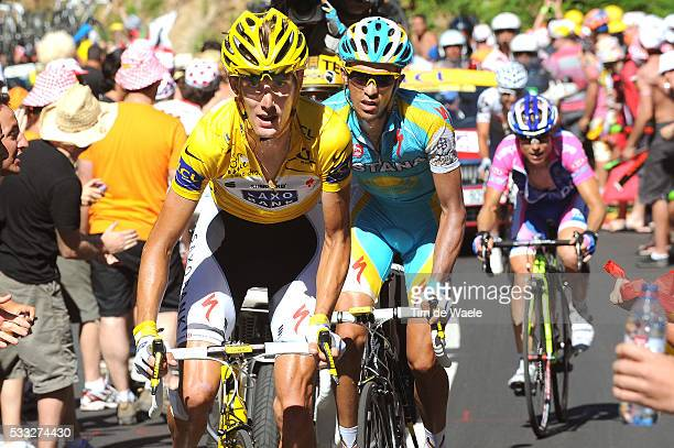97th Tour de France 2010 / Stage 14 SCHLECK Andy Yellow Jersey / CONTADOR Alberto / Damiano CUNEGO / Revel - Ax 3 Domaines / Ronde van Frankrijk /...