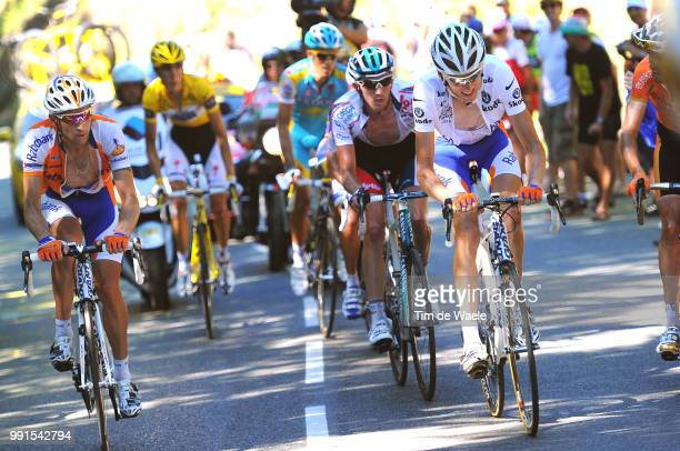 97Th Tour De France 2010, Stage 14Gesink Robert White Jersey, Van Den Broeck Jurgen / Menchov Denis / Contador Alberto / Schleck Andy Yellow Jersey,...