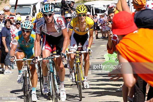 97th Tour de France 2010 / Stage 15 SCHLECK Andy Yellow Jersey / VINOKOUROV Alexandre / VAN DEN BROECK Jurgen / Port de Bales / Pamiers...