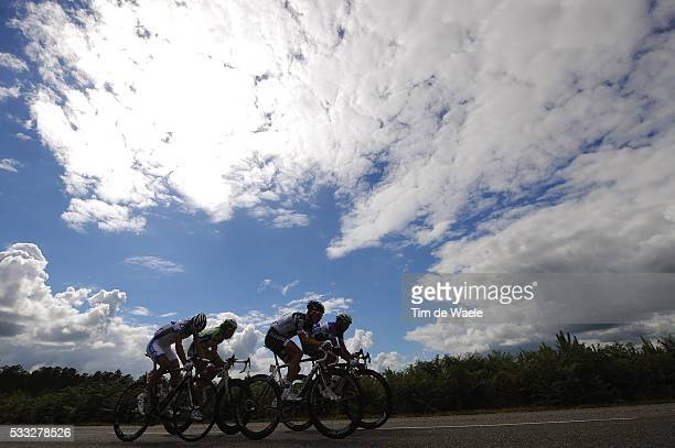 97th Tour de France 2010 / Stage 18 Illustration Illustratie / Silhouet / PINEAU Jerome / BRESCHEL Matti / VAUGRENARD Benoit / OSS Daniel ITA...