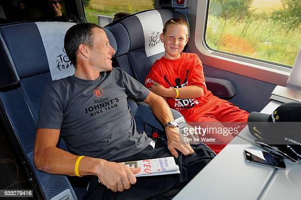 97th Tour de France 2010 / Stage 20 ARMSTRONG Lance Luke ARMSTRONG Son Fils Zoon / Longjumeau Paris ChampsElysees / Ronde van Frankrijk / TDF / Rit...