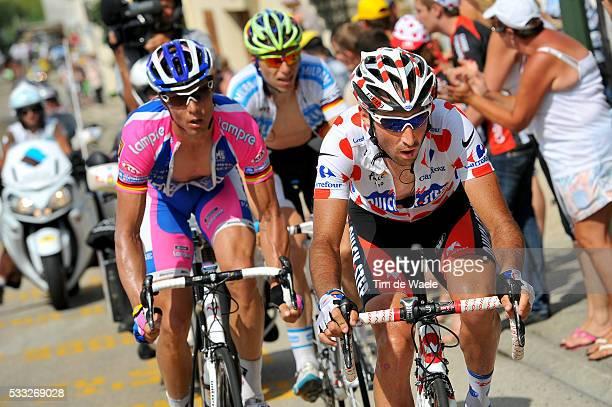 97th Tour de France 2010 / Stage 7 PINEAU Jerome Mountain Jersey / HONDO Danilo / KNEES Christian / Tournus Station Des Rousses / Ronde van Frankrijk...