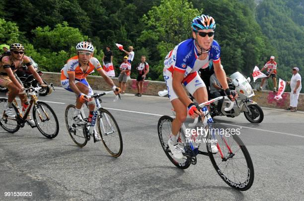 97Th Tour De France 2010 Stage 7Voeckler Thomas / Juan Manuel Garate / Rafael Valls Ferri / Tournus Station Des Rousses / Ronde Van Frankrijk Tdf Rit...