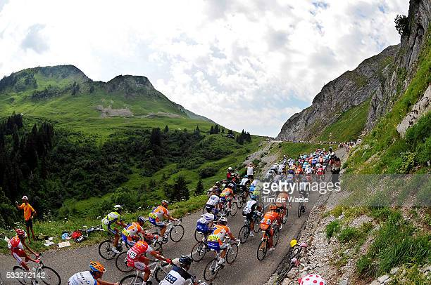 97th Tour de France 2010 / Stage 9 Illustration Illustratie / Peleton Peloton / Col de la Colombiere / Mountains Montagnes Bergen / Landscape Paysage...