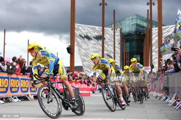 97Th Tour Of Italy 2014 Stage 1 Illustration Illustratie Team Tinkoff Saxo / Roche Nicholas / Juul Jensen Christopher / Majka Rafal / Petrov Evgeny /...