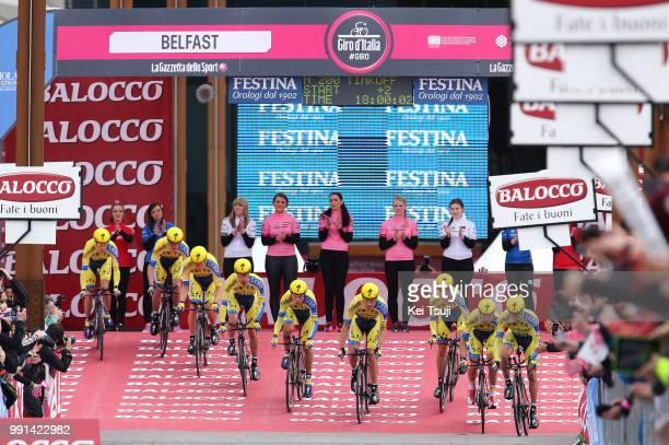 97Th Tour Of Italy 2014 Stage 1 Start Team Tinkoff Saxo / Roche Nicholas / Juul Jensen Christopher / Majka Rafal / Petrov Evgeny / Poljanski Pawel /...
