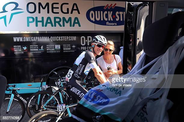 97th Tour of Italy 2014 / Stage 11 PAUWELS Serge / Ine BEYEN Girlfriend Wife Copine Vriendin / Collecchio Savona / Giro Tour Ronde van Italie Etape...