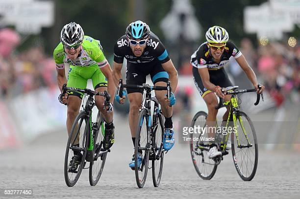 97th Tour of Italy 2014 / Stage 14 Arrival Sprint / BATTAGLIN Enrico / CATALDO Dario / PANTANO GOMEZ Jarlinson / Aglie - Oropa 164Km / Giro Tour...