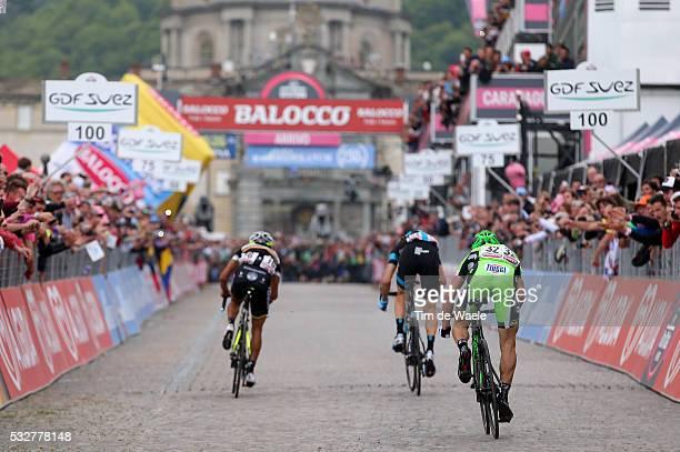 97th Tour of Italy 2014 / Stage 14 Illustration Illustratie / Arrival Sprint / BATTAGLIN Enrico / CATALDO Dario / PANTANO GOMEZ Jarlinson / Aglie -...