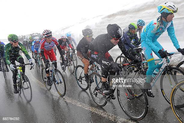 97th Tour of Italy 2014 / Stage 16 ARU Fabio / EVANS Cadel / QUINTANA Nairo / MORENO Daniel / POZZOVIVO Domenico / ROLLAND Pierre / STELVIO 2758m...