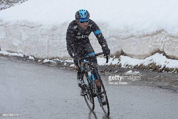 97th Tour of Italy 2014 / Stage 16 CATALDO Dario / STELVIO 2758m / Snow Neige Sneeuw / Ponte Di Legno Val Martello / Martelltal 2059m / Giro Tour...